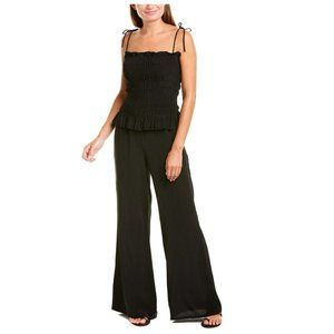 NWT - Tory Burch - Silk Smocked Jumpsuit MSRP $428